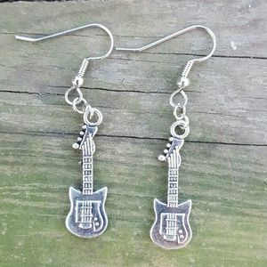 Rock and Roll Guitar Earrings